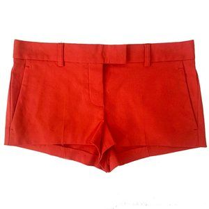 NWOT Theory Cotton Red Shorts Size 2